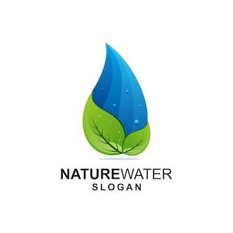 Blatt- und wasser-logo-ideen