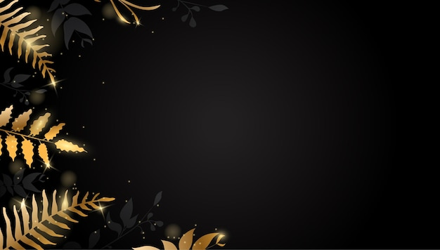Blattgold hintergrund mit glitzer