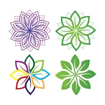 Blattgrün logo ökologie natur element vektor