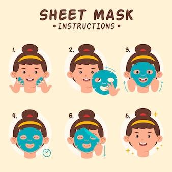 Blattmaske anweisungen konzept