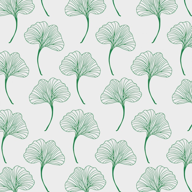 Blattmuster mit ginkoblättern
