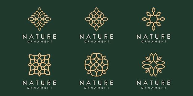 Blattverzierung logo icon set design vorlage vektor