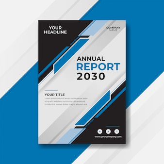 Blau abstrakte jahresbericht cover design