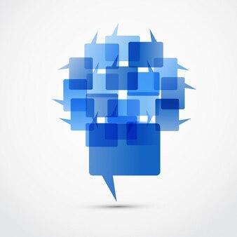 Blau chat-box