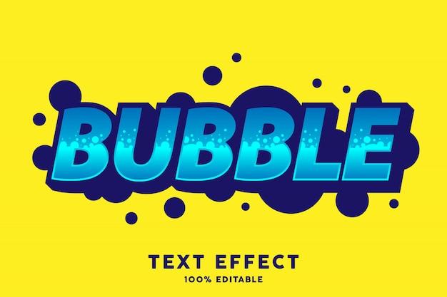 Blau fett mit blasenart-texteffekt