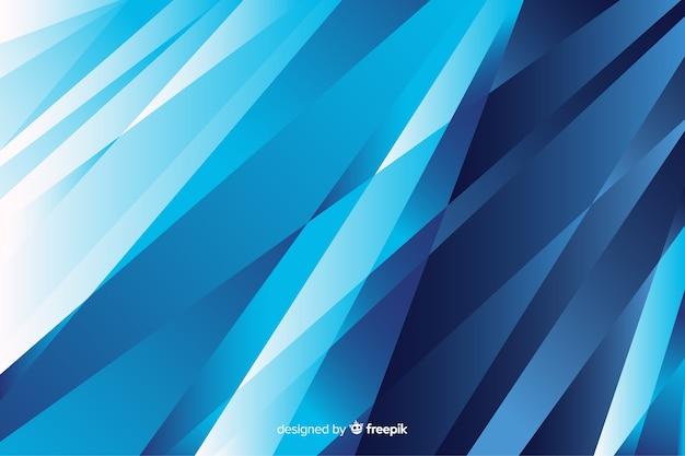 Blau formt hintergrundzusammenfassungsdesign