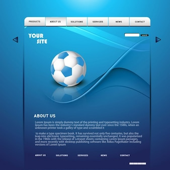 Blau glänzende website-layout