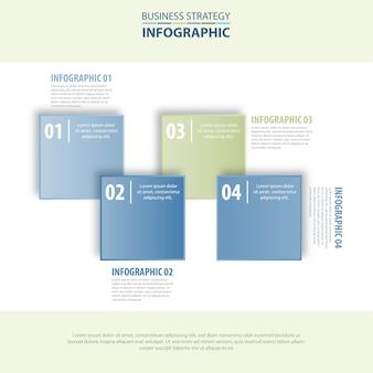 Blau-grauer Farbton der Geschäfts-infographics Designschablone