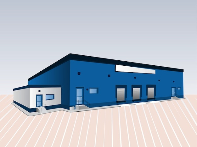 Blau hochbau-architektur-design