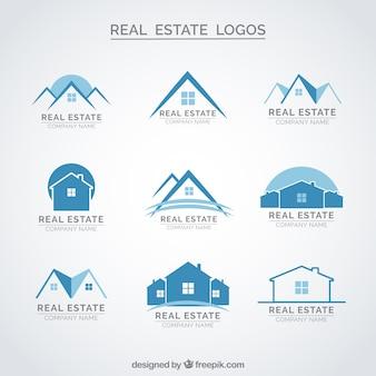 Blau immobilien logos