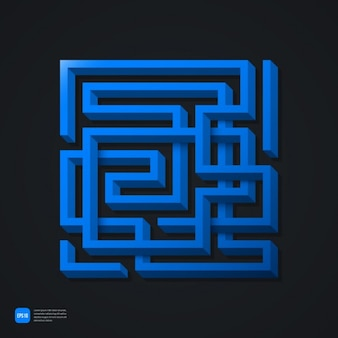 Blau labyrinth hintergrund