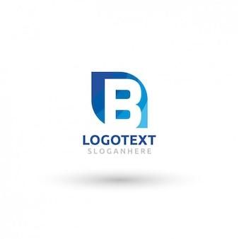 Blau-logo von buchstaben b