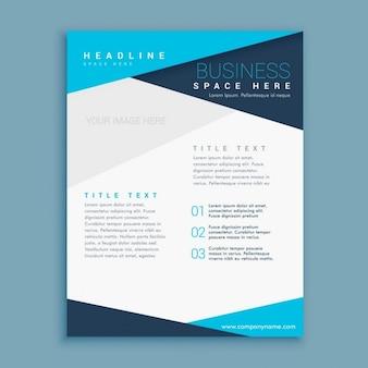 Blau minimal form broschüre design