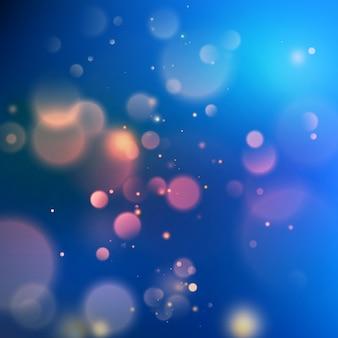 Blau mit bokeh-hintergrund erstellt durch neonlichter.