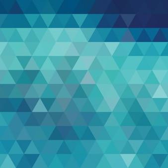 Blau mit dreieckigen formen hintergrund-design