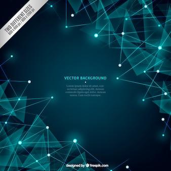Blau-networking-hintergrund