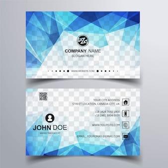 Blau polygon visitenkarte