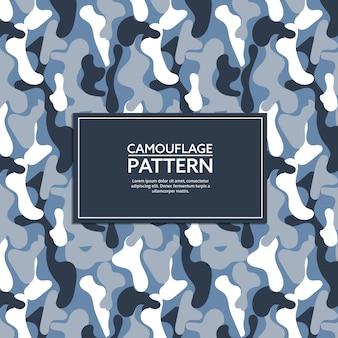 Blau und grau camouflage-muster