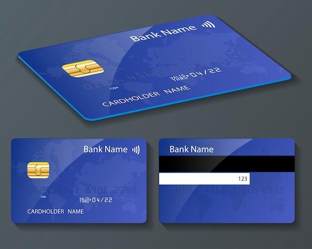 Blau und karte mit dem pay wave logo