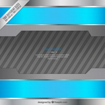 Blau und silber metallic-hintergrund