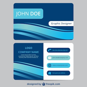 Blau visitenkarten vorlage