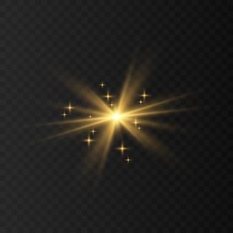 Blau, weiß, gold, orange funkelt symbolvektor. der satz der ursprünglichen vektorsterne funkelt symbol. helles feuerwerk, funkelnde dekoration, glänzender blitz.