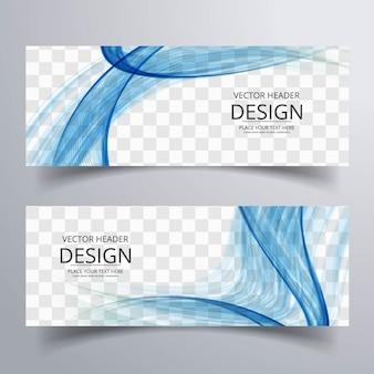 Blau wellig banner