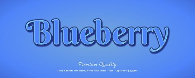 Blaubeere 3d schrift-effekt