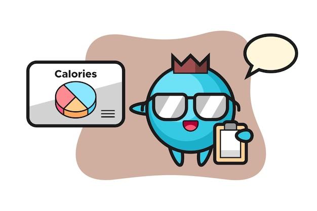 Blaubeermaskottchen als ernährungsberater