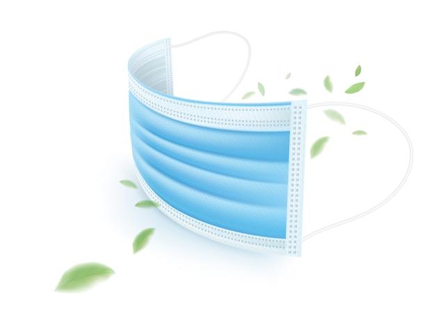 Blaue 3-lagige medizinische maske, schützt vor keimen