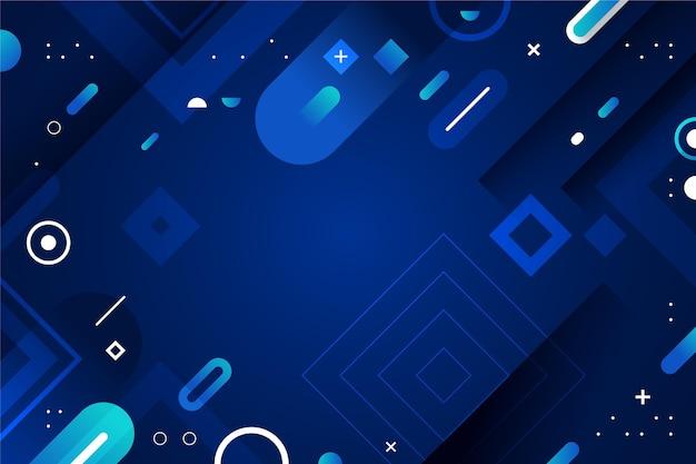 Blaue abstrakte tapete mit farbverlauf