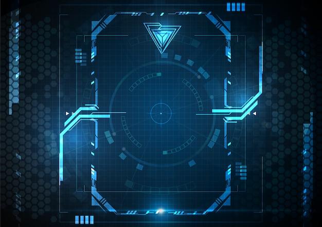 Blaue abstrakte technologie-digital-spiel-grenze
