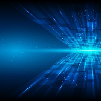 Blaue abstrakte Technologie