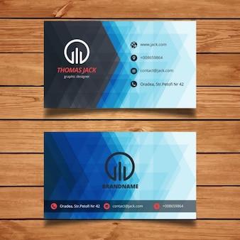 Blaue abstrakte visitenkarte vorlage