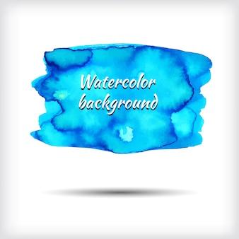Blaue aquarellfahne