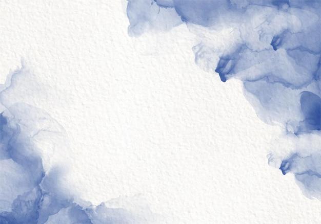 Blaue aquarellflüssigkeit, die designkarte färbt farbspritzstil. alkoholtinte