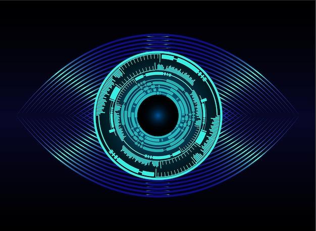 Blaue augen ball abstrakte cyber zukunft technologie