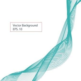 Blaue band abstrakte formen mit weißem hintergrund