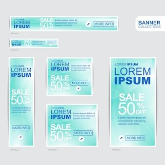 Blaue Banner Werbung Vorlagen Design