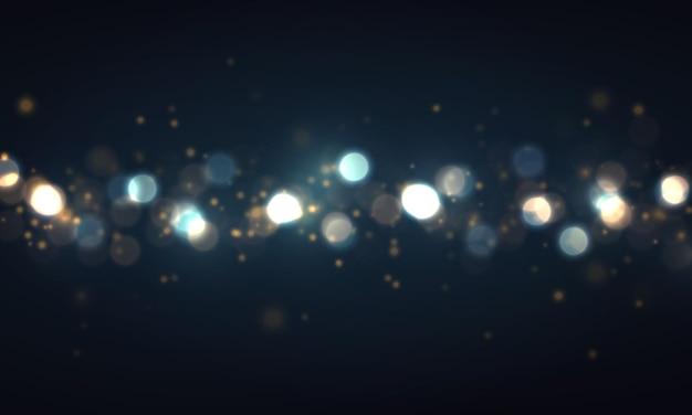 Blaue bokeh-lichter