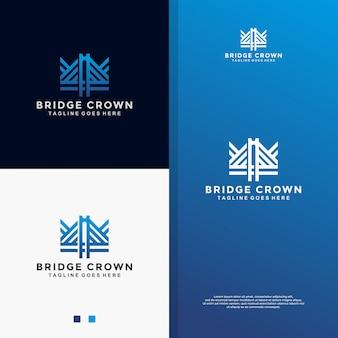 Blaue brücke krone logo