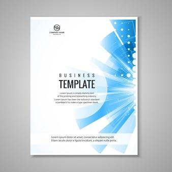 Blaue business-broschüre