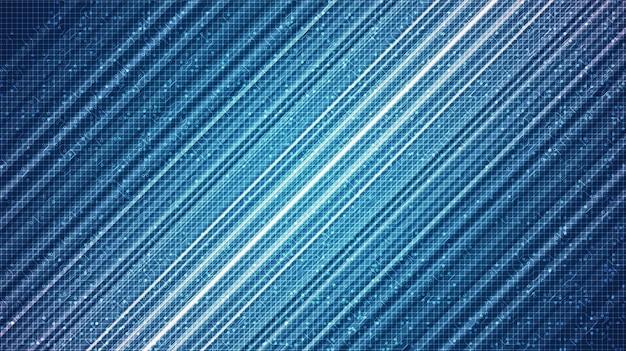 Blaue cyber-licht-technologie