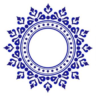 Blaue dekorative runde