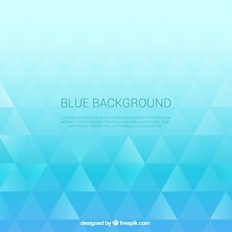 Blaue dreiecke hintergrund