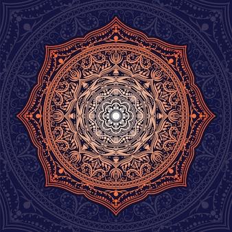 Blaue einladung mit mandala