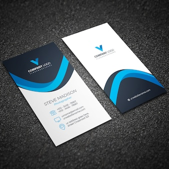 Blaue elegante unternehmenskarte