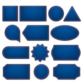 Blaue etiketten großes set