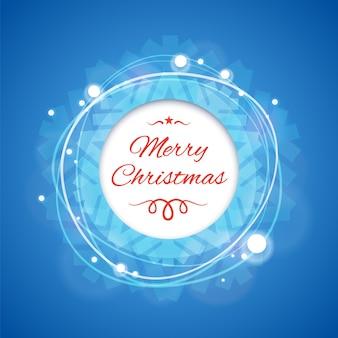 Blaue fahne der frohen weihnachten