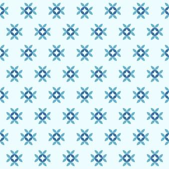 Blaue farbe des geometrischen hintergrundes der nahtlosen musterblumenzusammenfassung